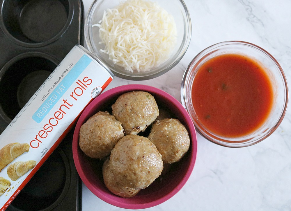 pastry wrapped meatballs