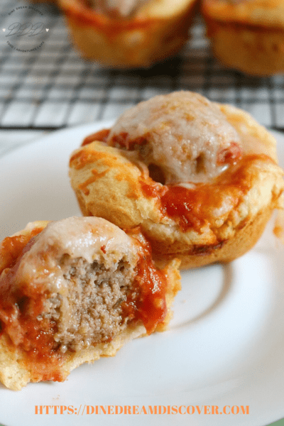 Chicken Parmesan Meatball Crescent Bites Recipe