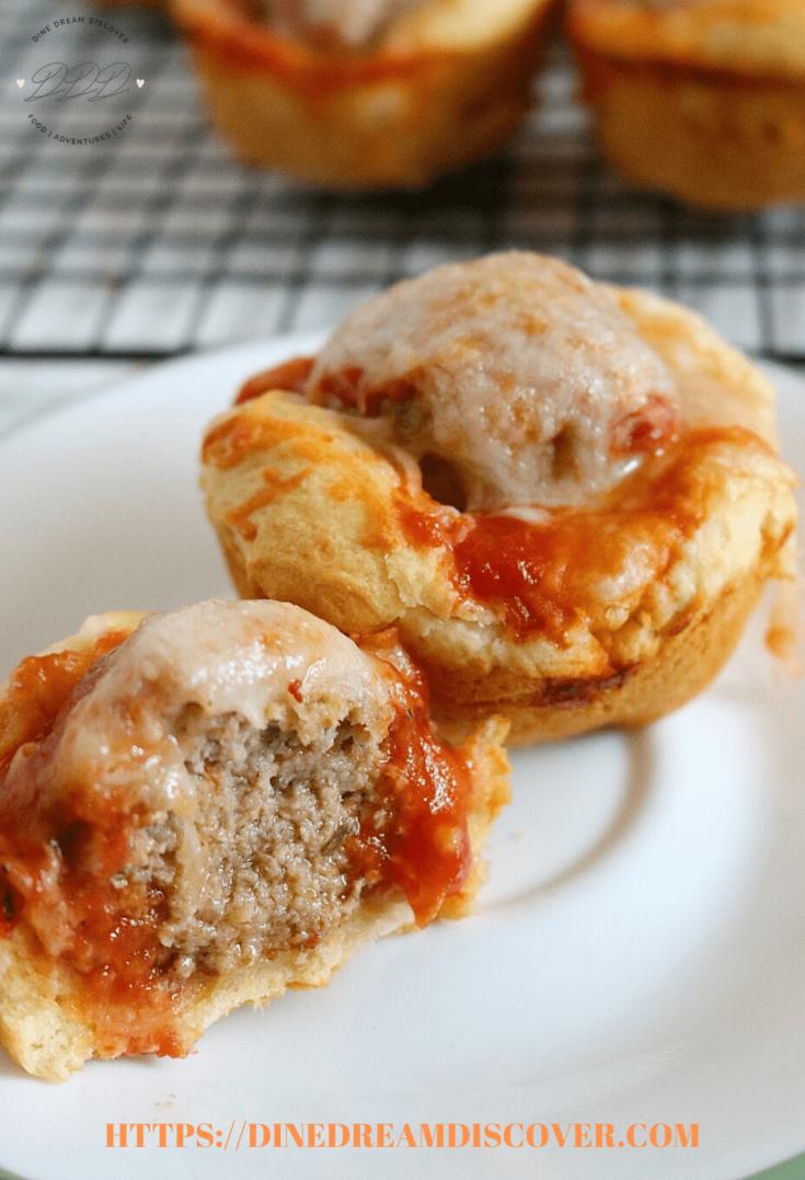 Chicken Parmesan Meatball Crescent Bites Recipe