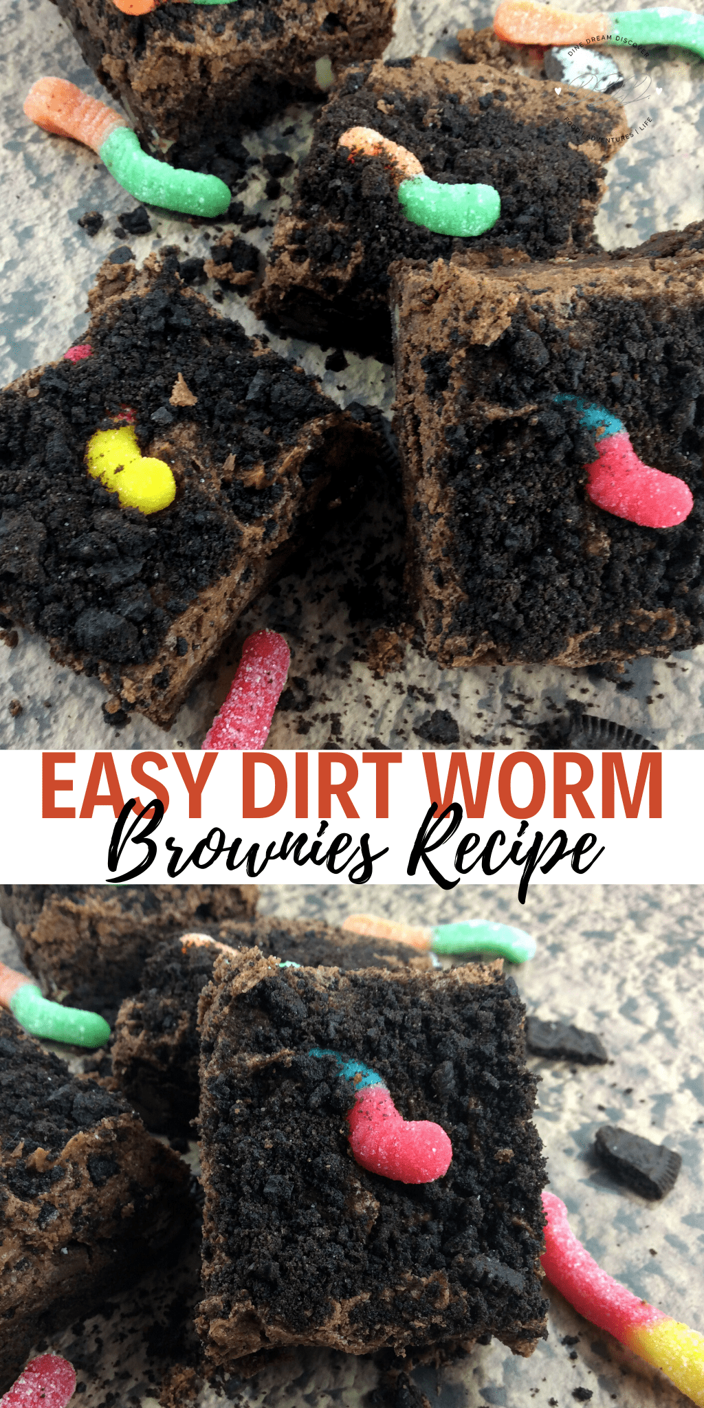 Dirt Worm Brownies Recipe