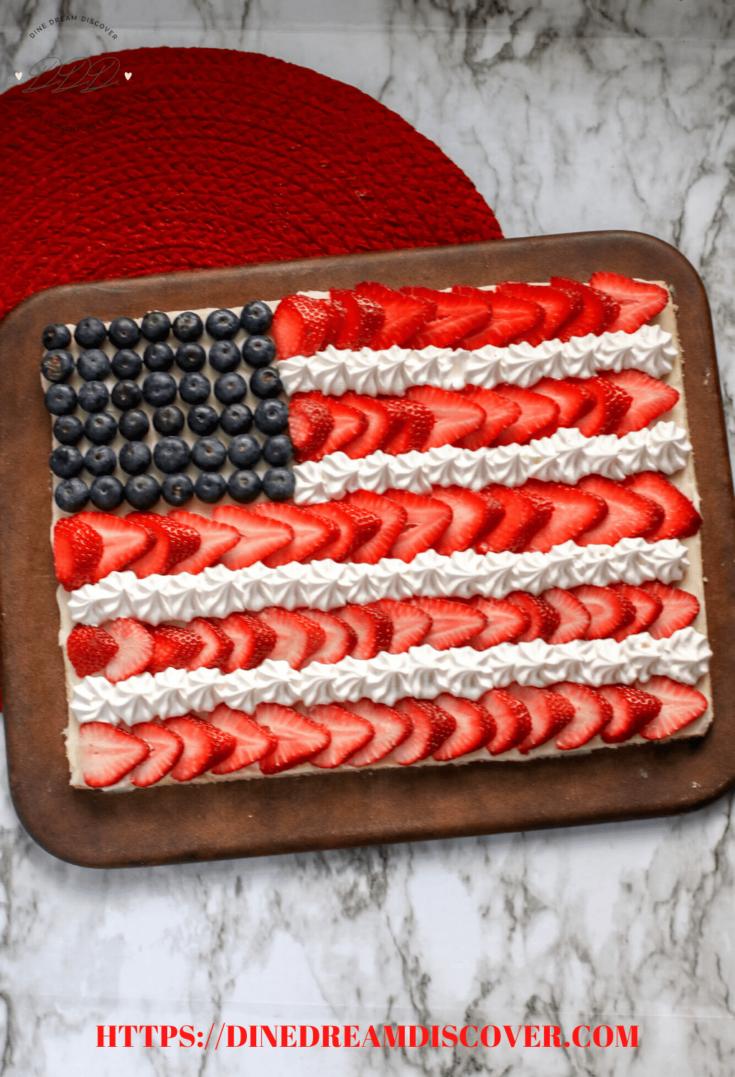 Flag Fruit Pizza Recipe
