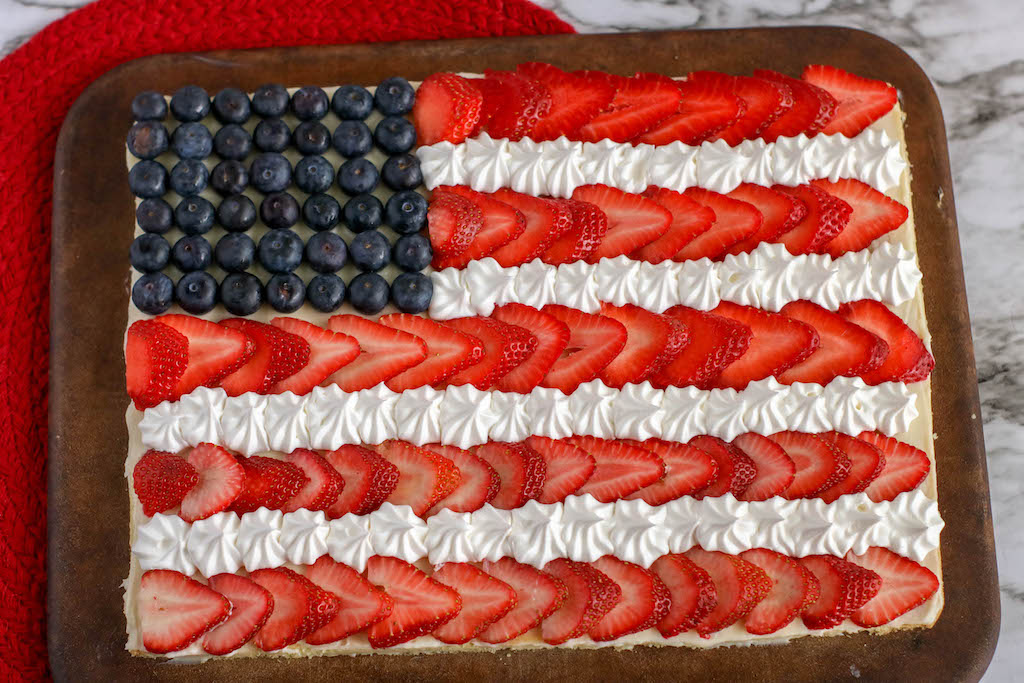 american flag fruit dessert