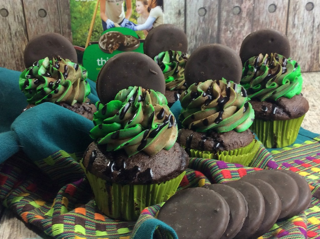 mint chocolate cupcakes Thin Mint Cupcakes