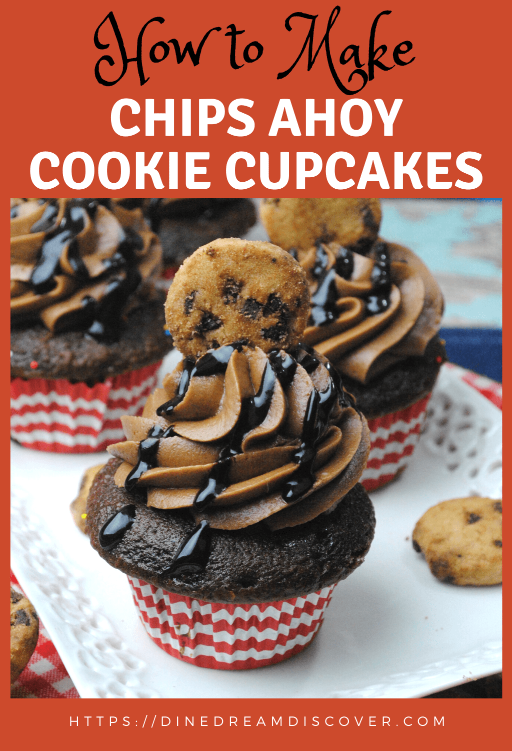 CHOCOLATE CHIP CUPCAKES Chips Ahoy Cookie Cupcake Recipe