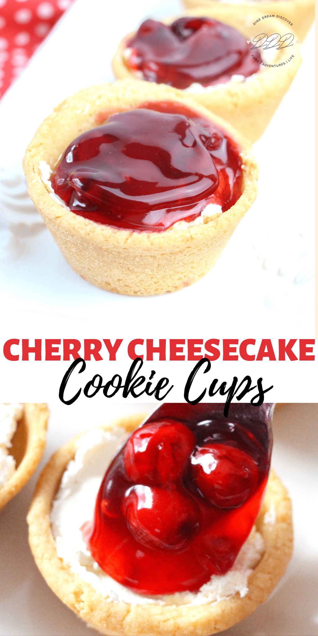 Cherry Cheesecake Cookie Cups Recipe