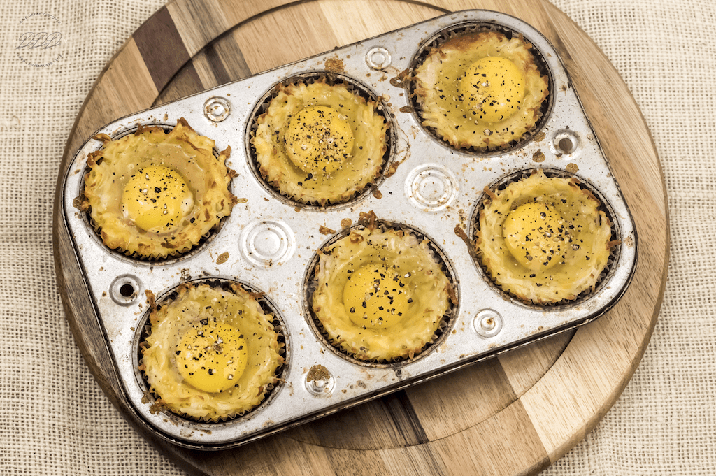 bacon egg nests