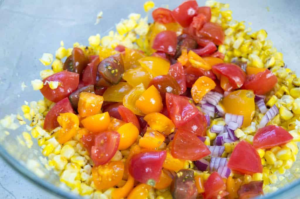 citrus corn salad