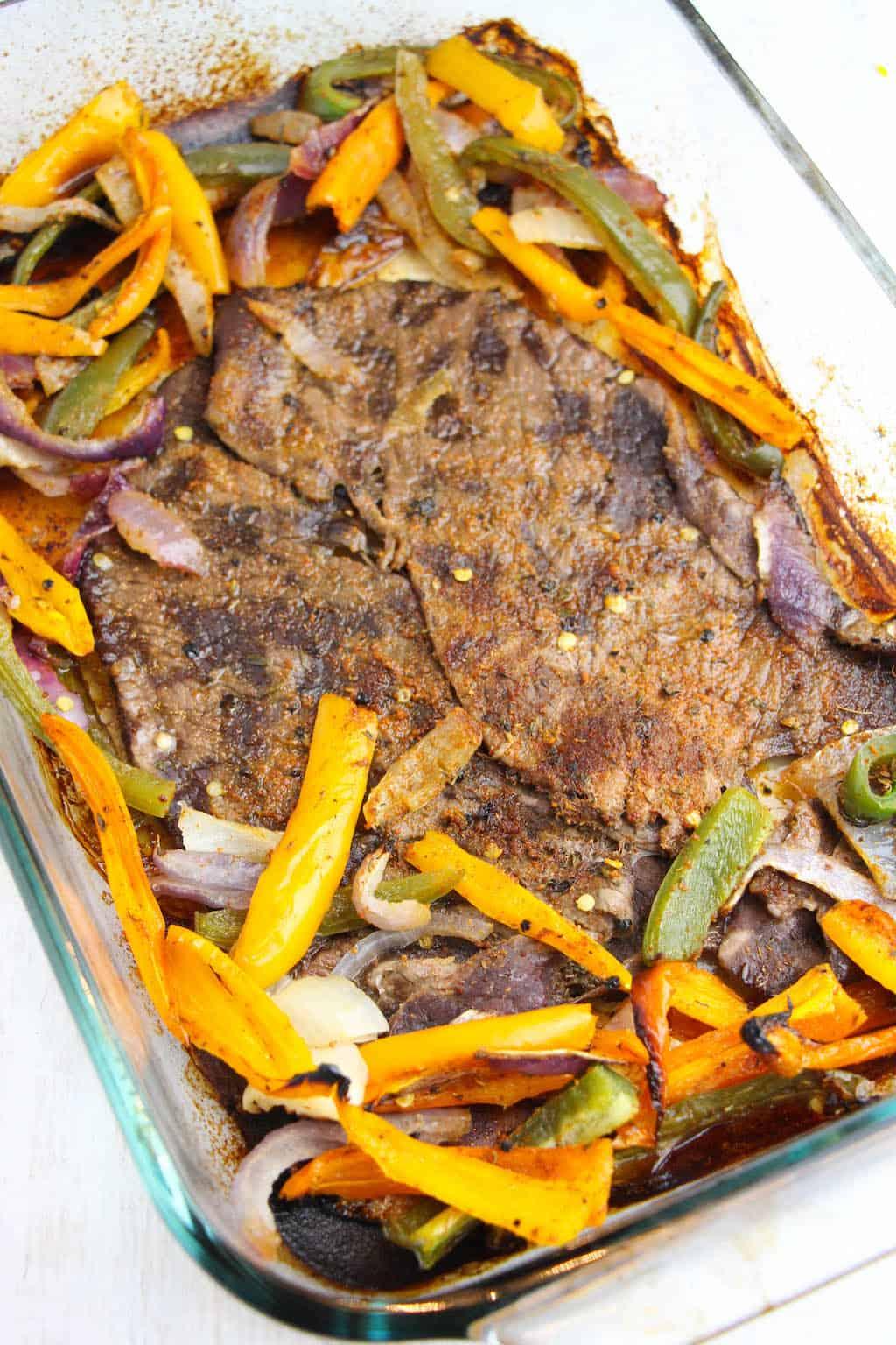 rachael ray sheet pan steak fajitas