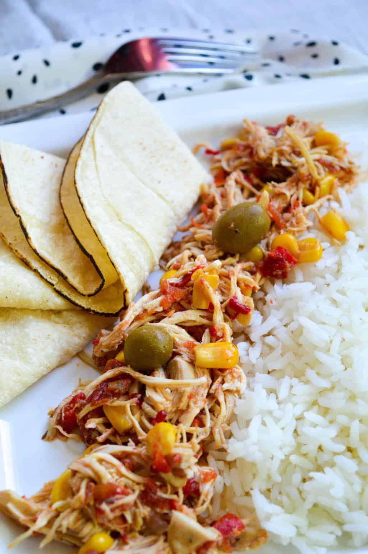 cuban shredded chicken