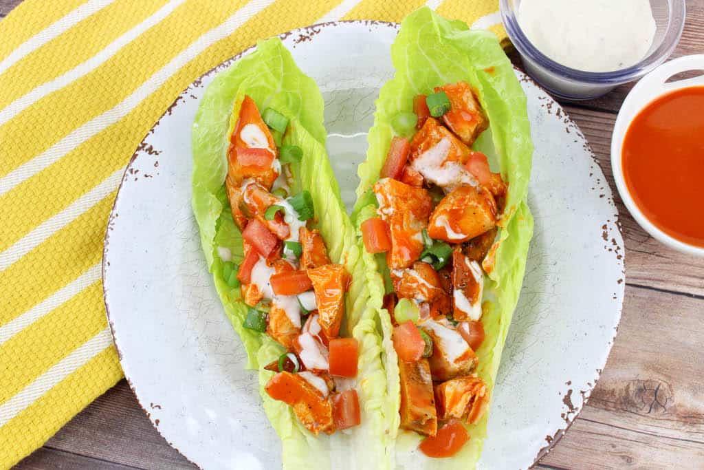 rotisserie chicken lettuce wraps