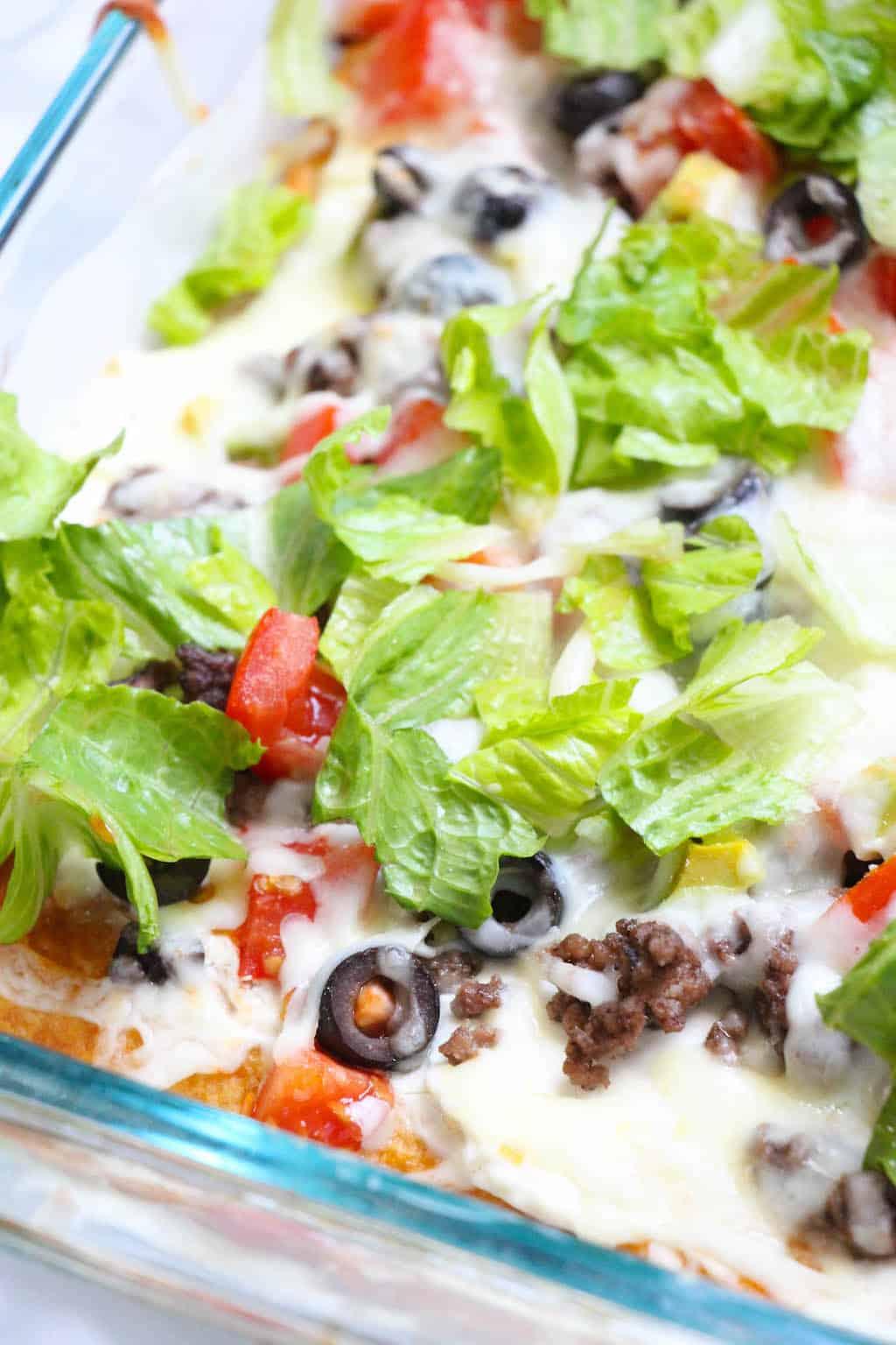 cold veggie taco pizza