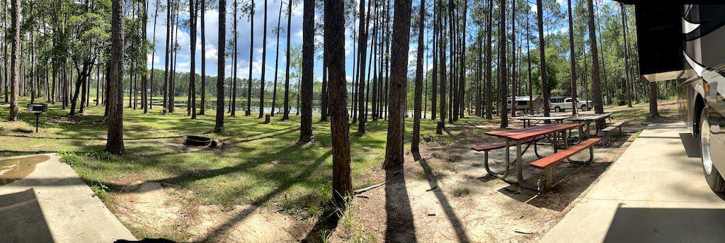panorama of sand pond campground