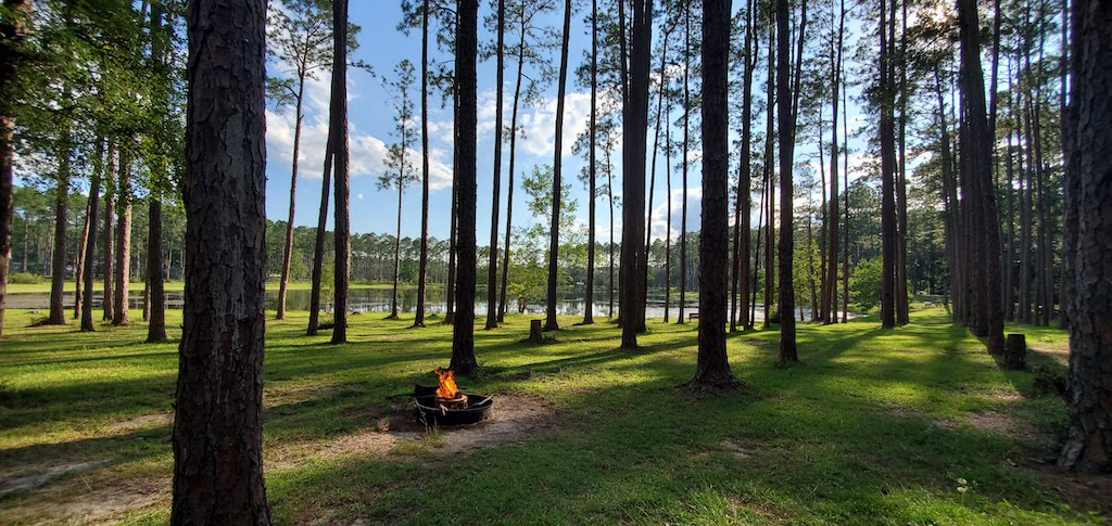 fire at sand pond campground