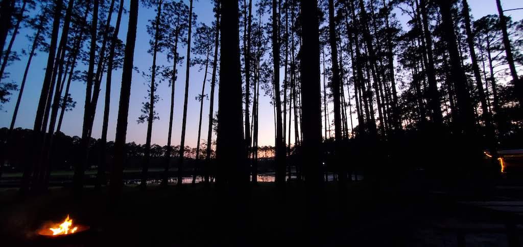 sunset at sand pond campground