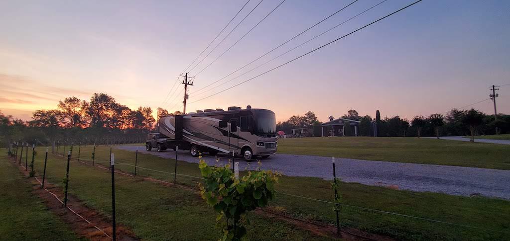 parking at corbin farms winery