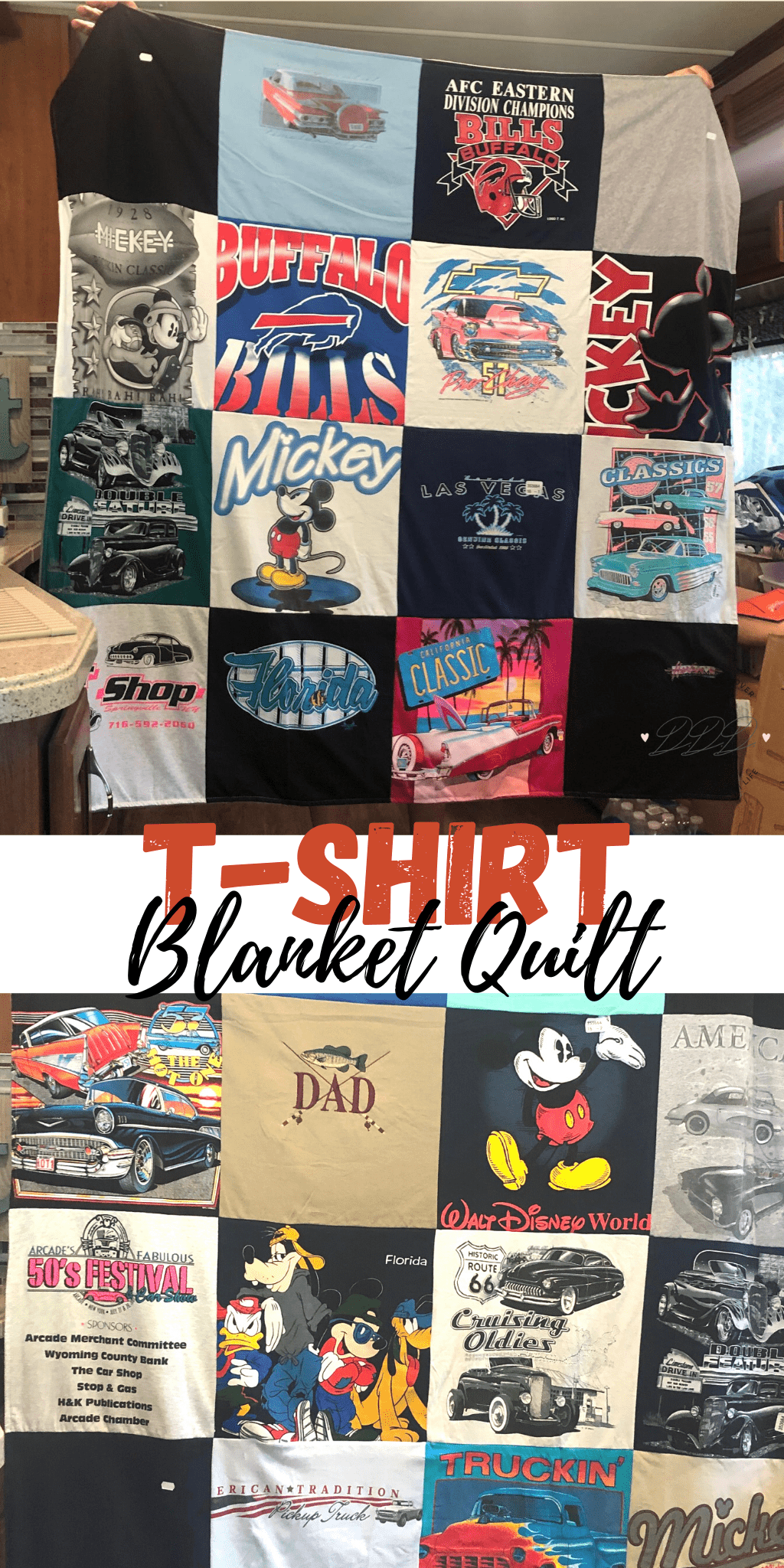 t-shirt blanket keepsake quilt