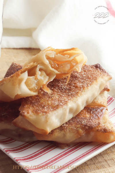 apple pie egg rolls baked