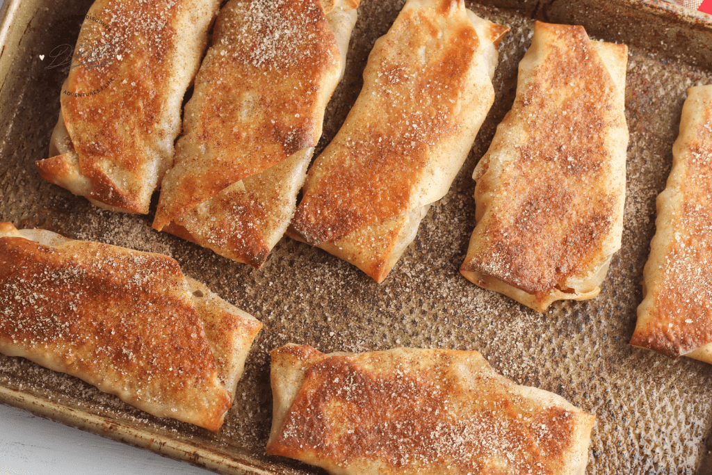 Air Fryer Apple Pie Egg Rolls