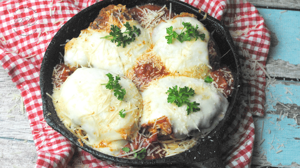 skillet chicken parmesan for two