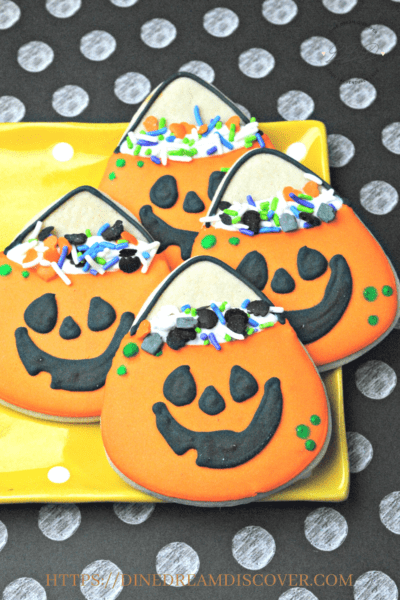 Pumpkin Cookie Bag Cookies