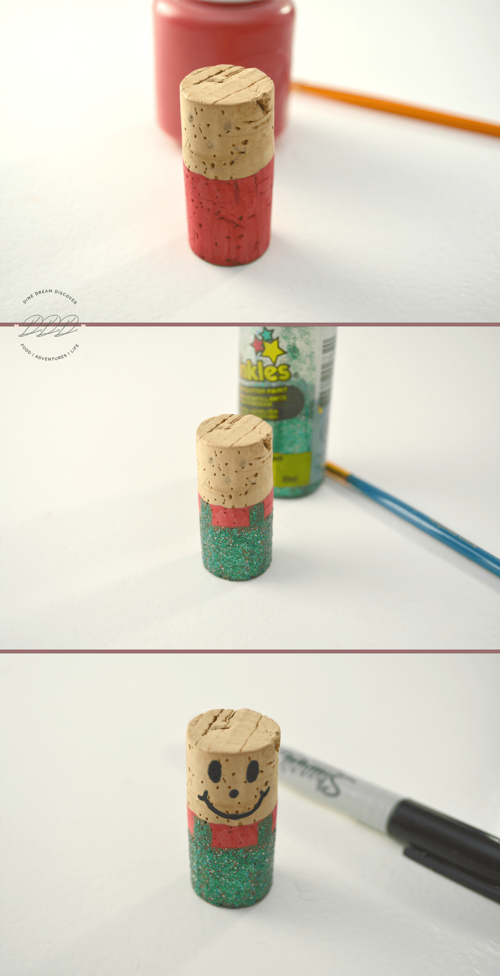 how to make cork ornaments with beads