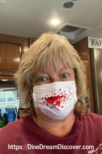 halloween bloody mask
