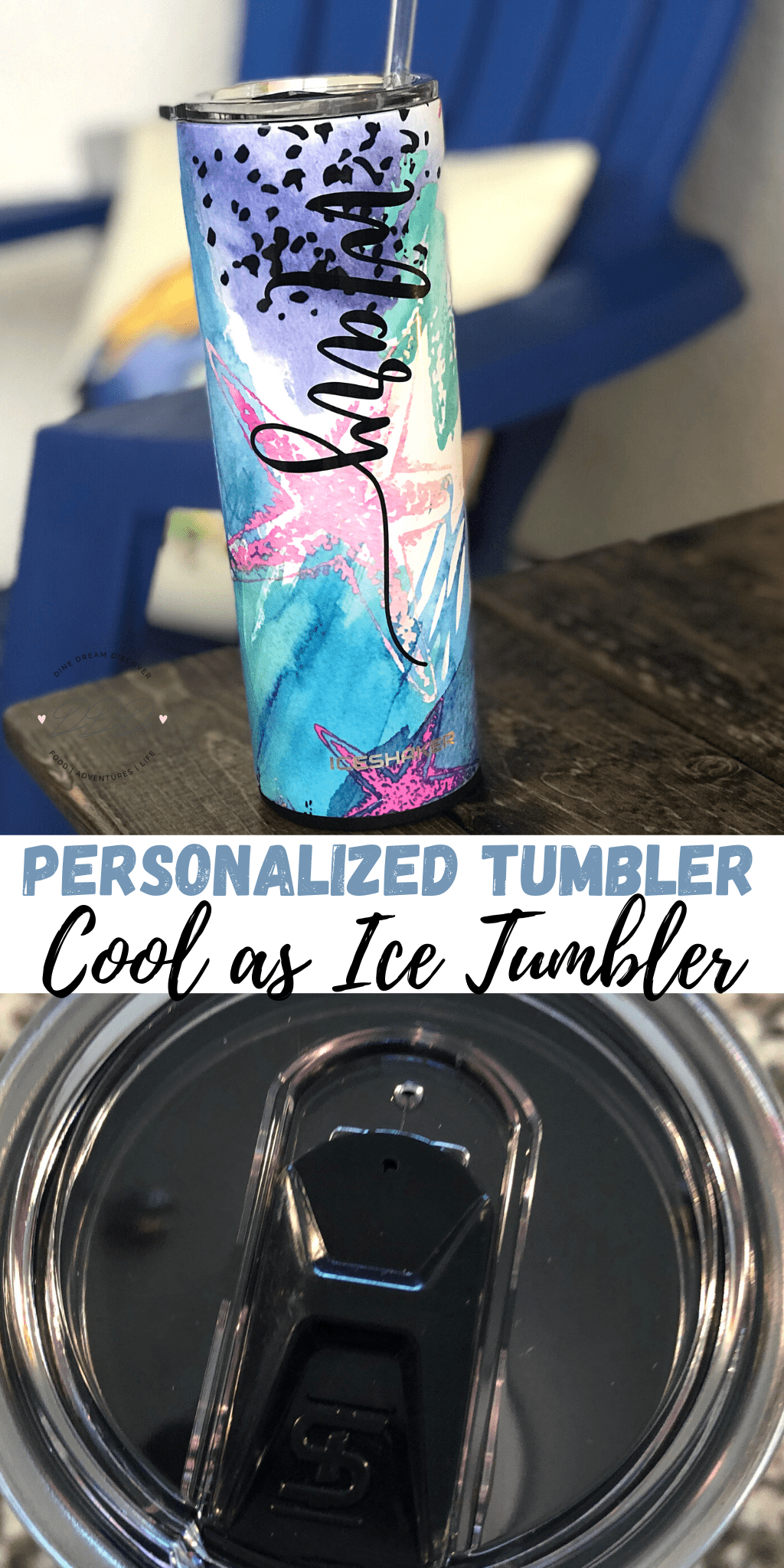 Personalized Tumbler - Starfish Cool as Ice Tumbler