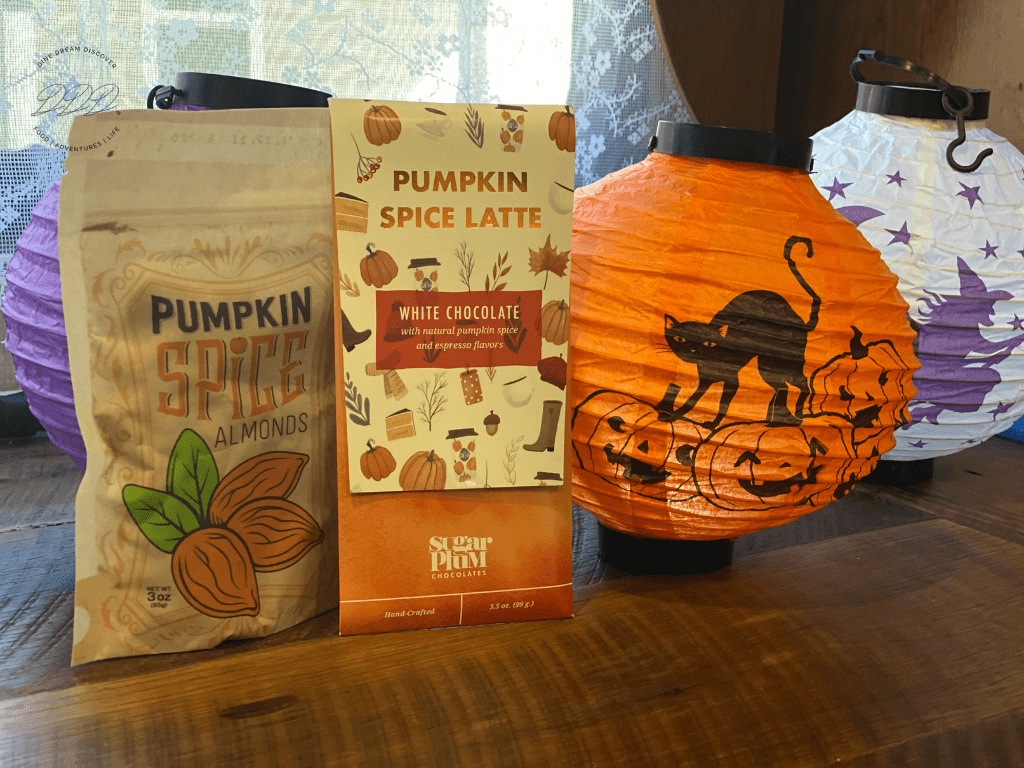 halloween candy and almonds