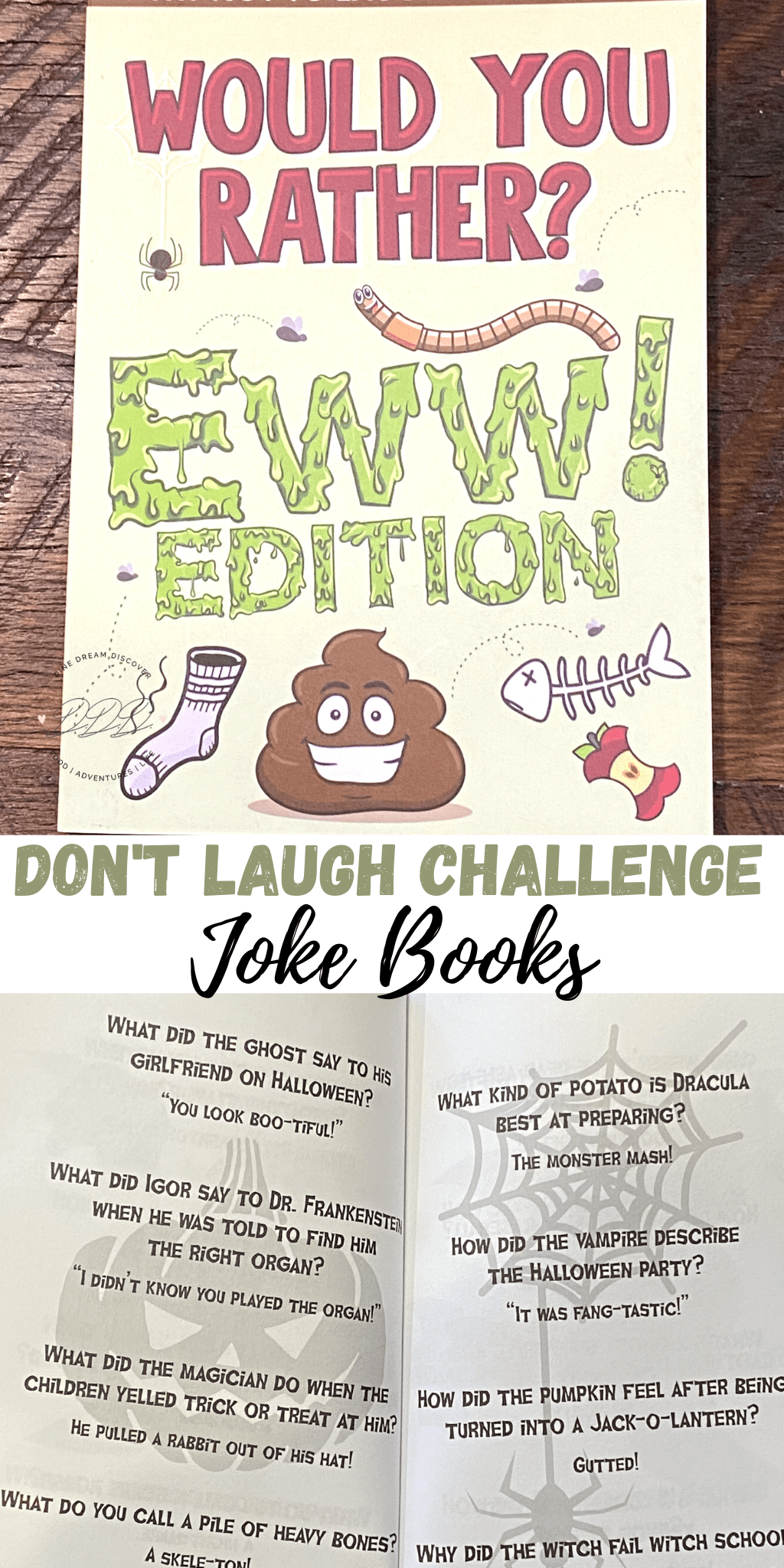 don't laugh challenge joke books