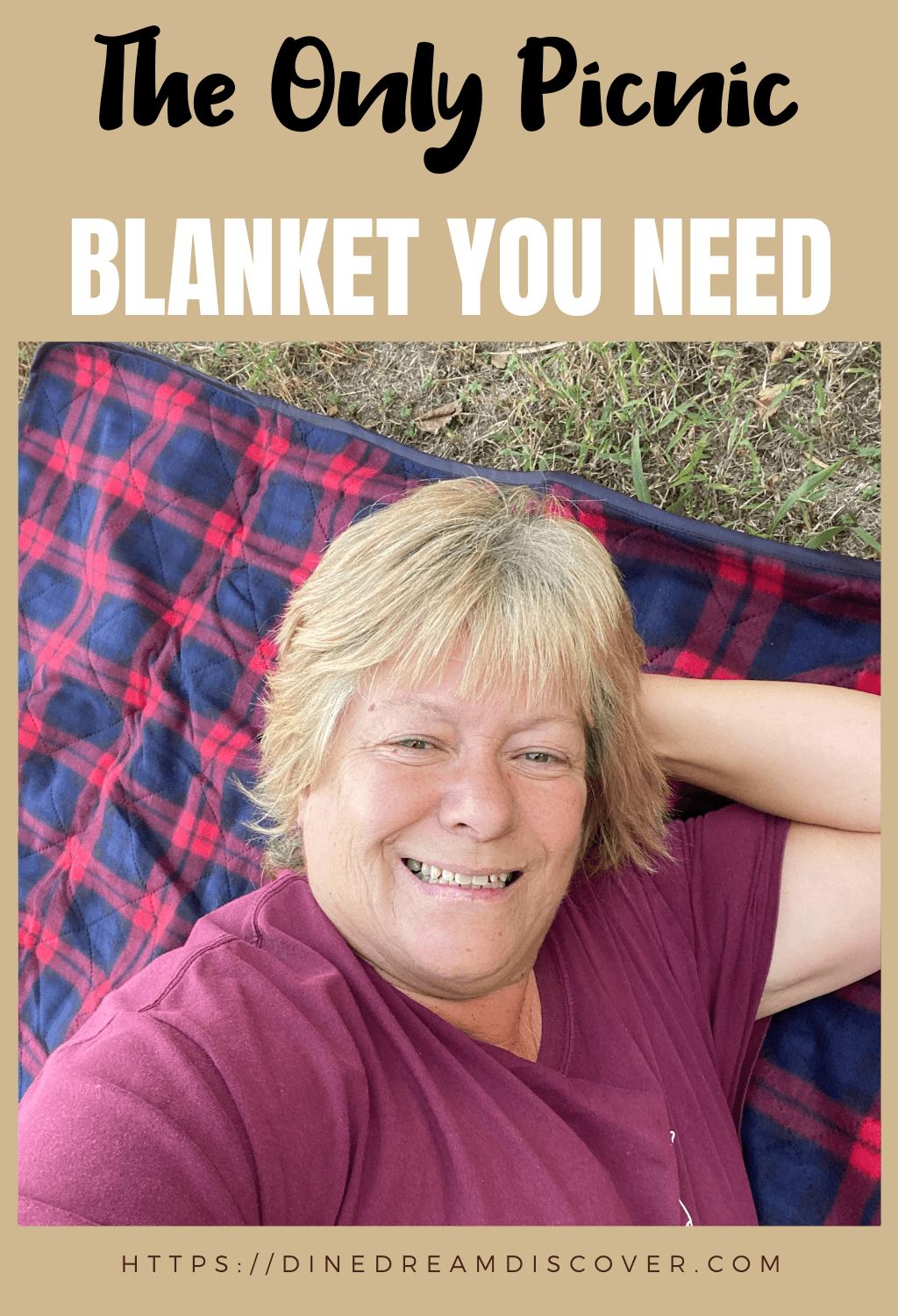 laying on a picnic blanket