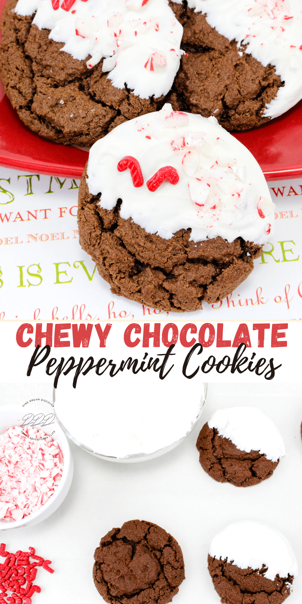 chewy chocolate peppermint cookies recipe