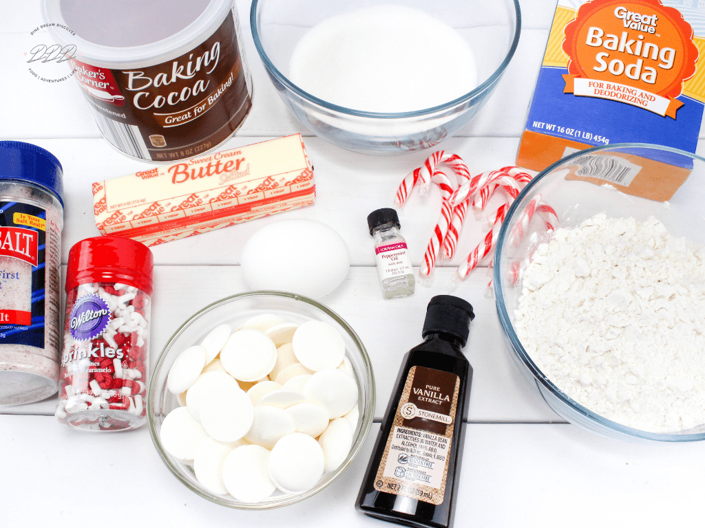 Candy Cane Cookies Ingredients