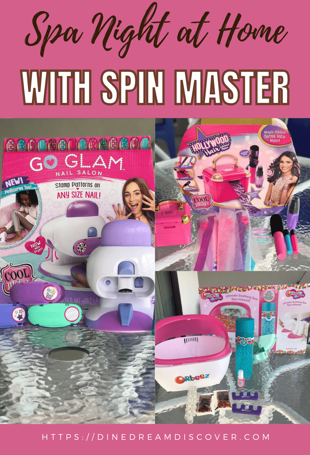 spa night with spin master