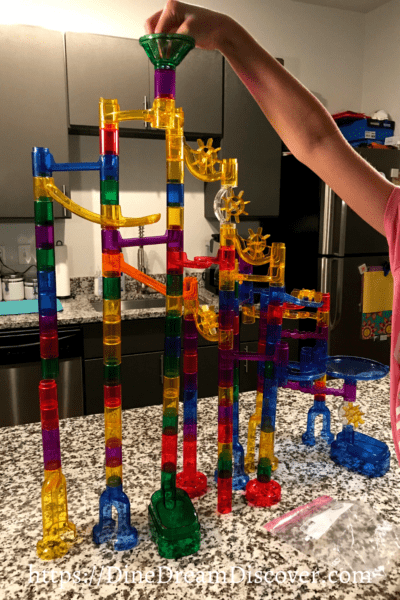 GLOW IN THE DARK MARBLE RUN