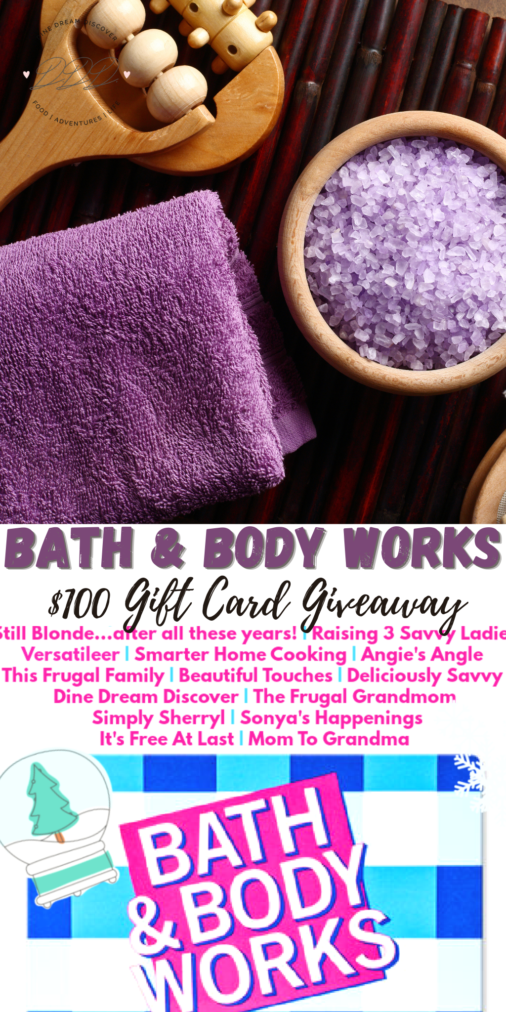 $100 Bath & Body Works Gift Card Giveaway (
