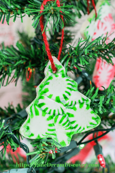 large peppermint candy ornaments