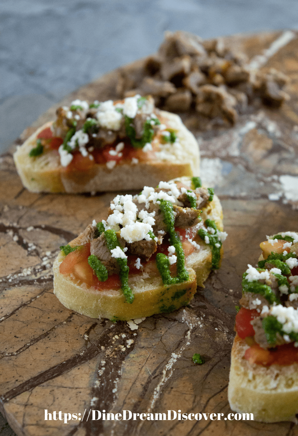 steak bruschetta