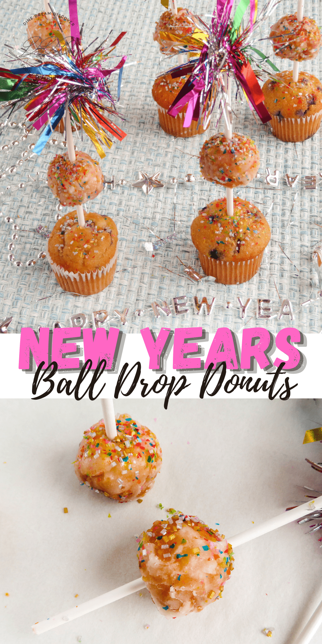 New Years Eve Ball Drop Donuts