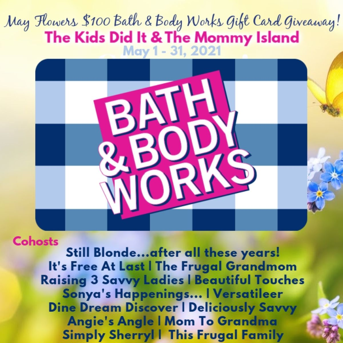 What an amazing way to start the new year! Enter to win a $100 Bath and Body Works Gift Card. Head down to the Rafflecopter to enter. Good luck!