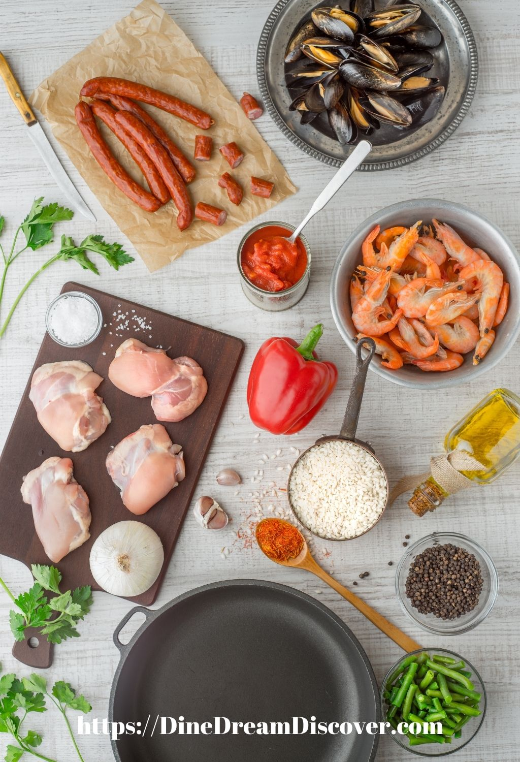 campfire mixed paella recipe ingredients