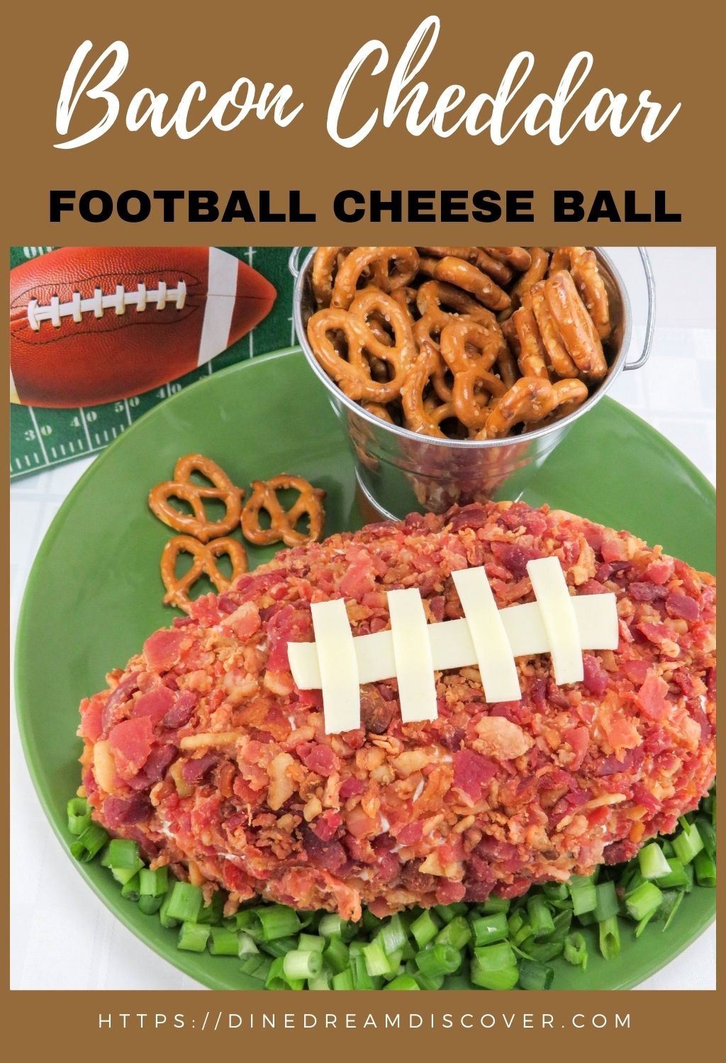 bacon cheddar football cheese ball