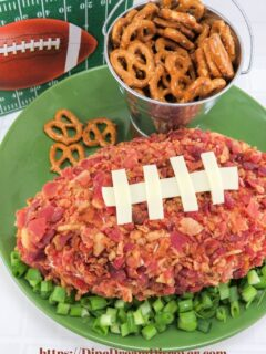 football field dip Super Bowl Appetizers