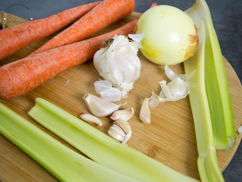 chicken soup vegetables