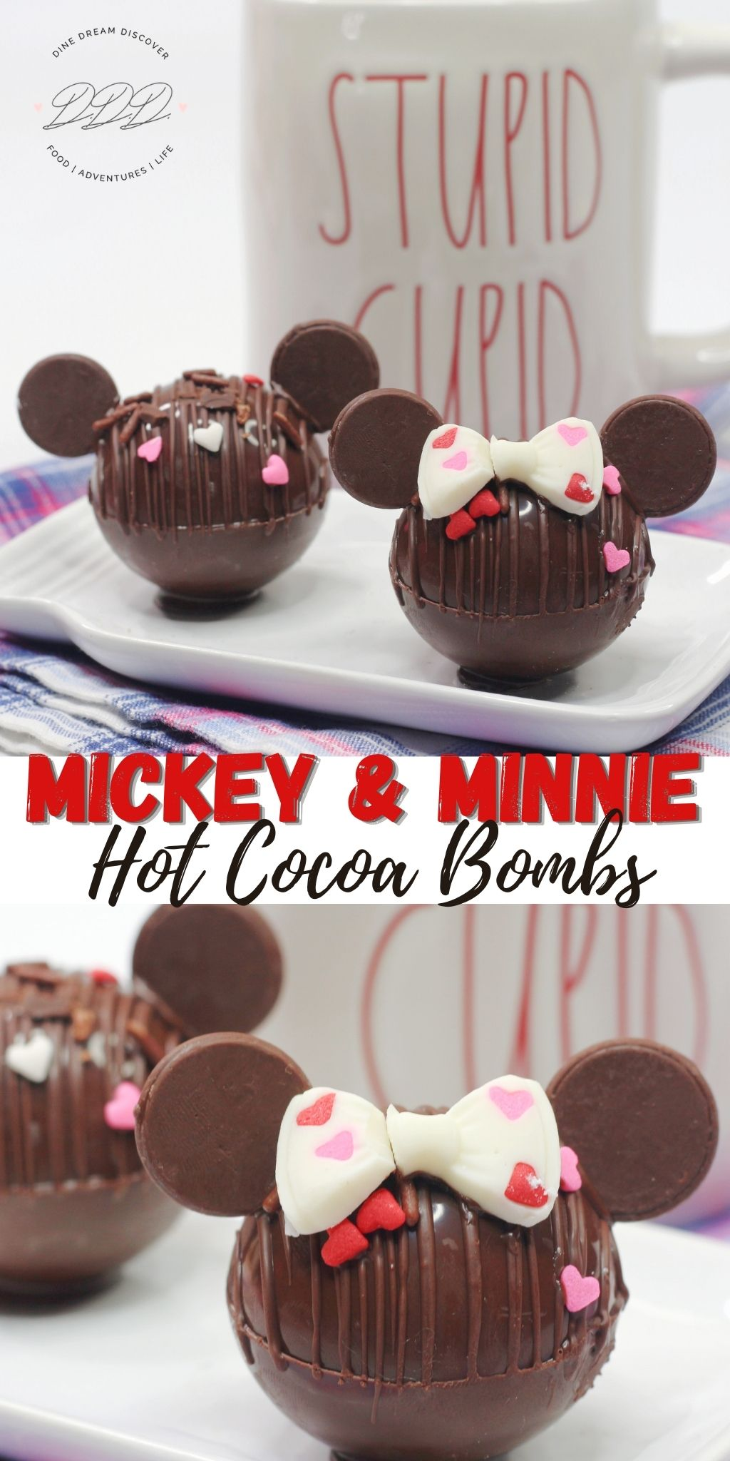 Mickey and Minnie Hot Cocoa Bombs