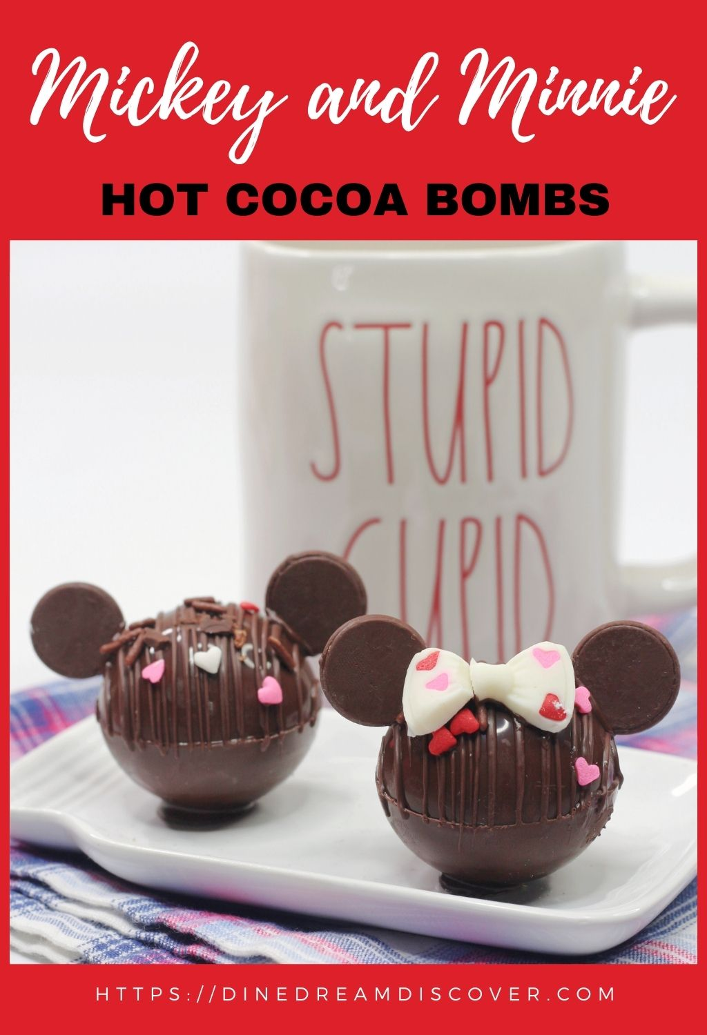 mickey and minnie cocoa bombs