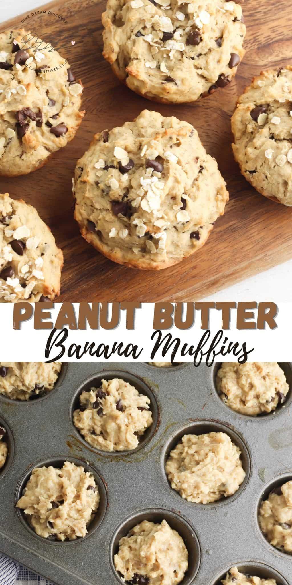 Peanut Butter Banana Muffins Recipe