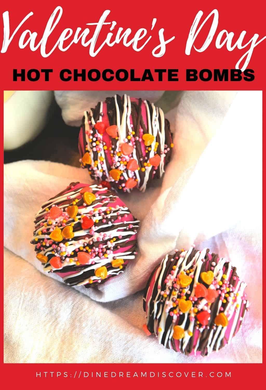 Pink Valentine Hot Chocolate Bombs