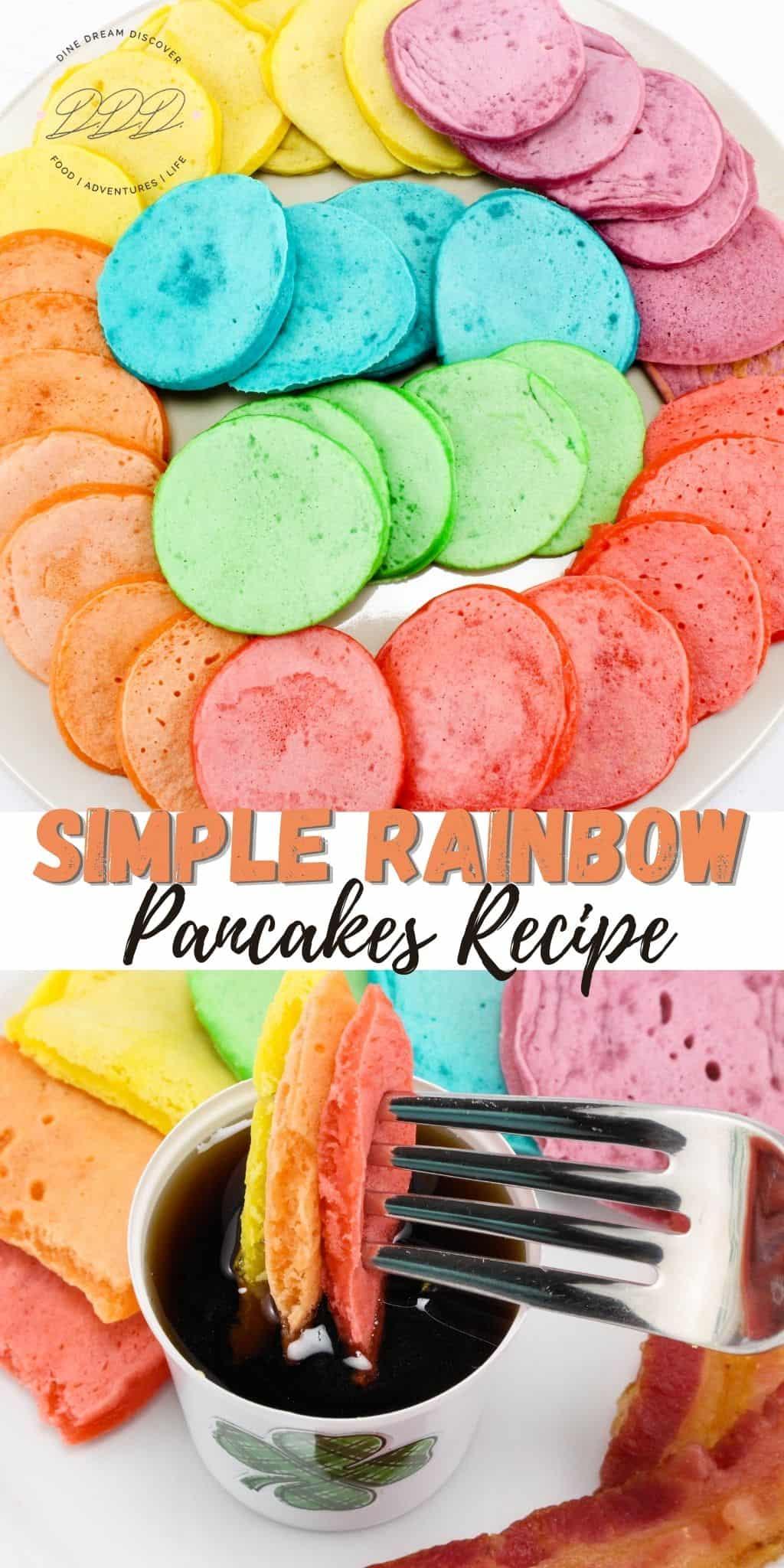 Simple Rainbow Pancakes Recipe