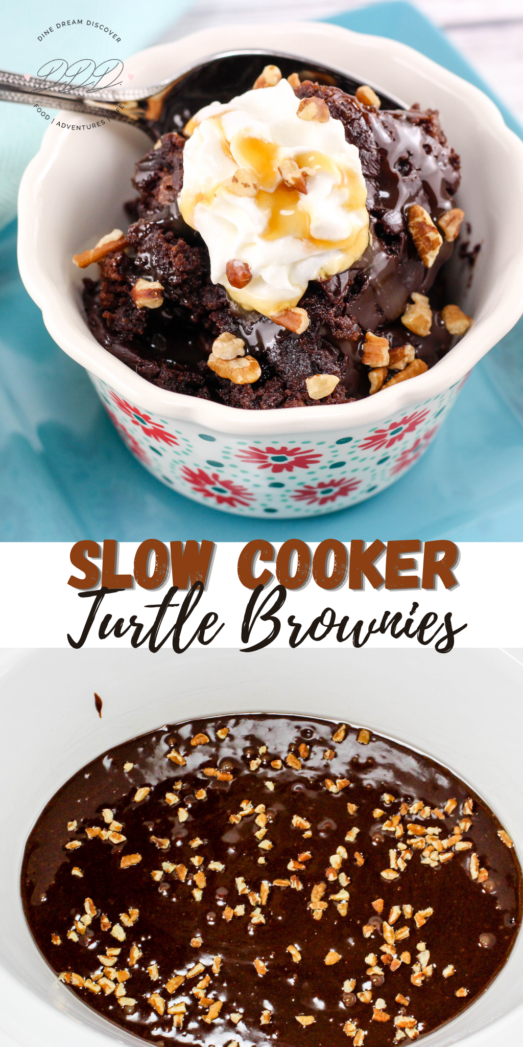 Slow Cooker Turtle Brownies Recipe