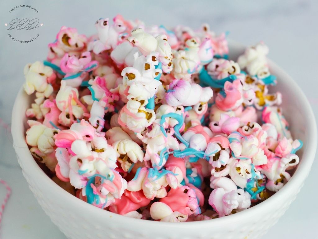 bowl of unicorn popcorn